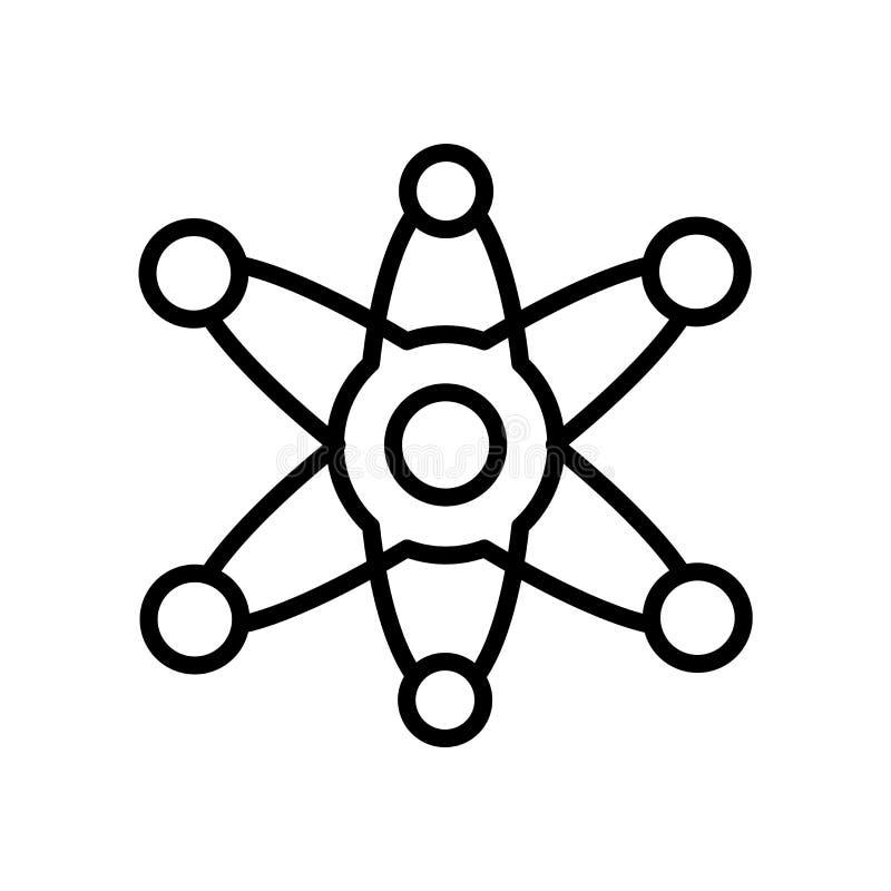 Vetor do ícone da ciência isolado no fundo branco, no sinal da ciência, na linha ou no sinal linear, projeto do elemento no estil ilustração stock