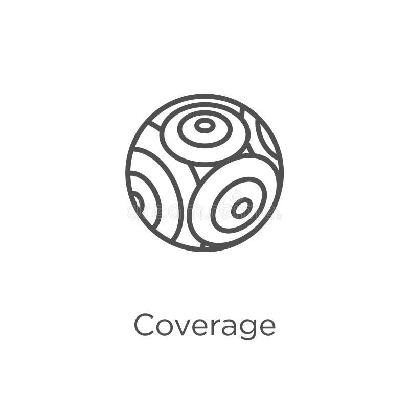 vetor do ícone da cobertura da coleção de g Linha fina ilustração do vetor do ícone do esboço da cobertura Esboço, linha fina íco ilustração royalty free