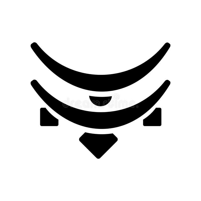 Vetor do ícone da colar isolado no fundo branco, sinal da colar ilustração stock