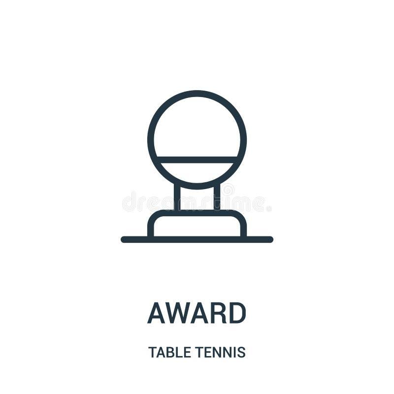 vetor do ícone da concessão da coleção do tênis de mesa Linha fina ilustração do vetor do ícone do esboço da concessão Símbolo li ilustração stock