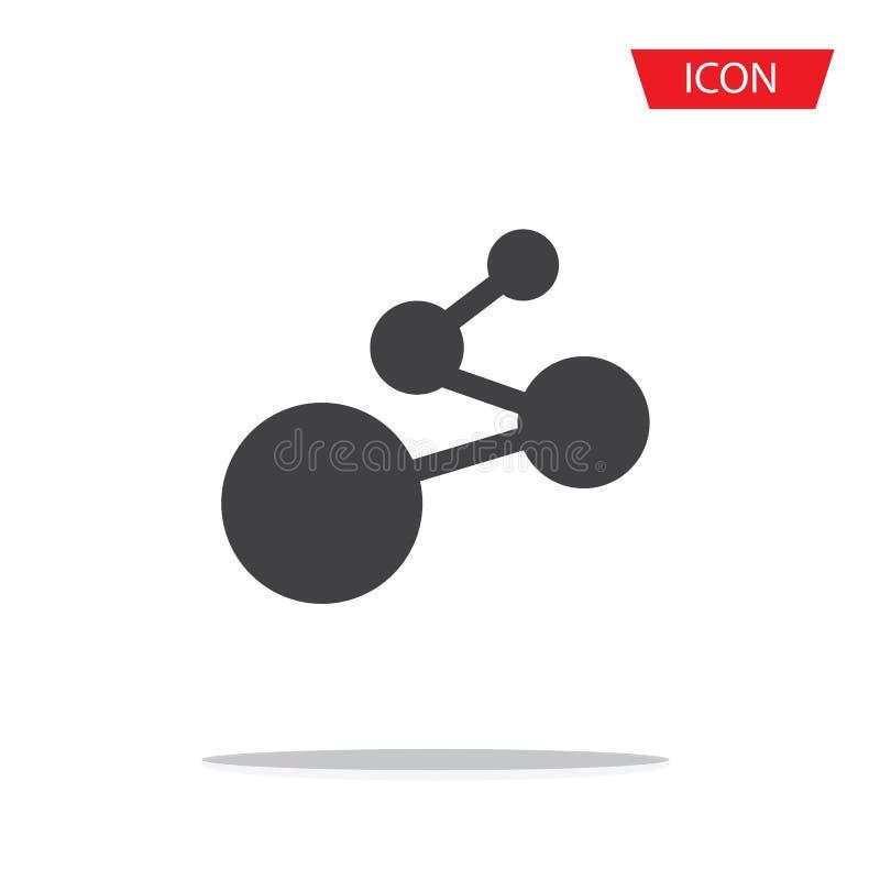 Vetor do ícone da conexão de rede do cubo isolado no fundo ilustração do vetor