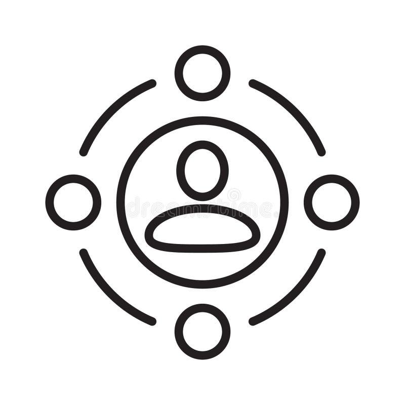 Vetor do ícone da conferência Ícone coletivo, botão social da rede Vetor ilustração royalty free