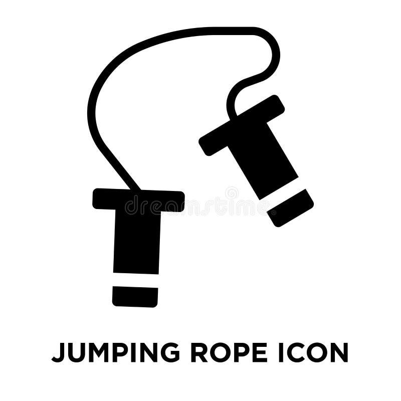 Vetor do ícone da corda de salto isolado no fundo branco, logotipo concentrado ilustração royalty free