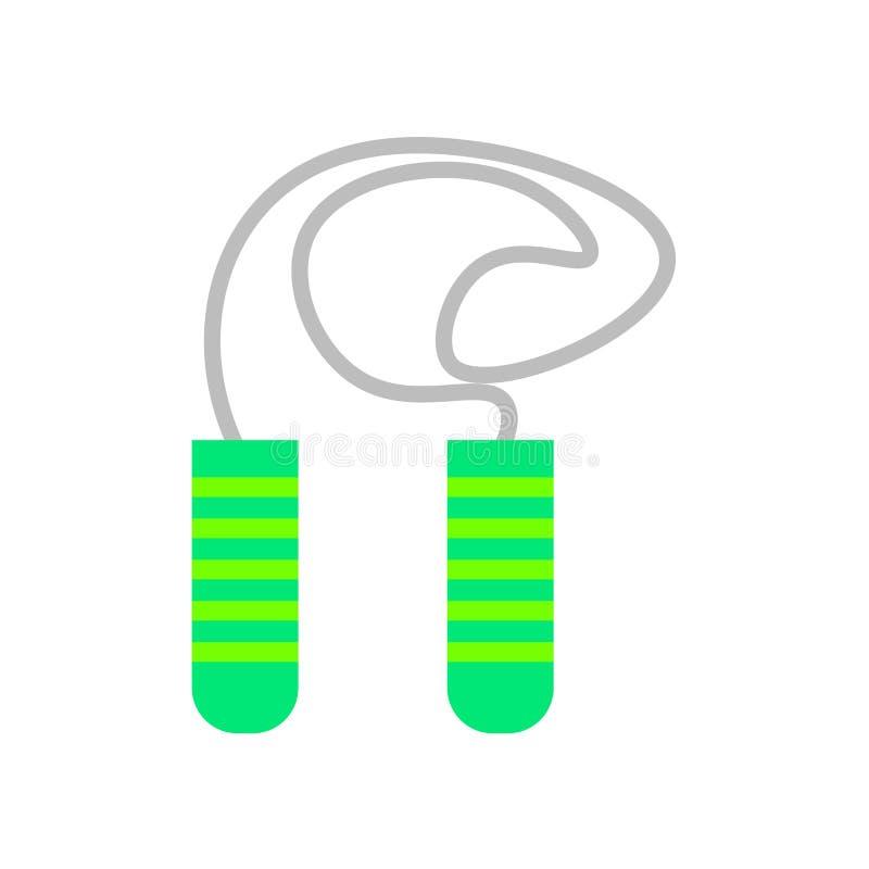 Vetor do ícone da corda de salto isolado no fundo branco, r de salto ilustração royalty free