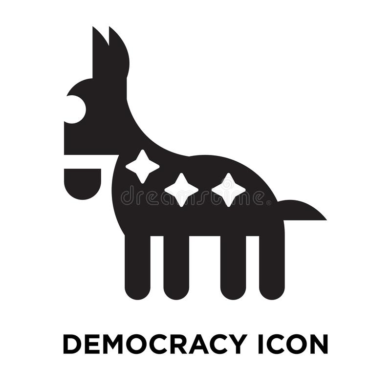 Vetor do ícone da democracia isolado no fundo branco, conceito do logotipo ilustração stock