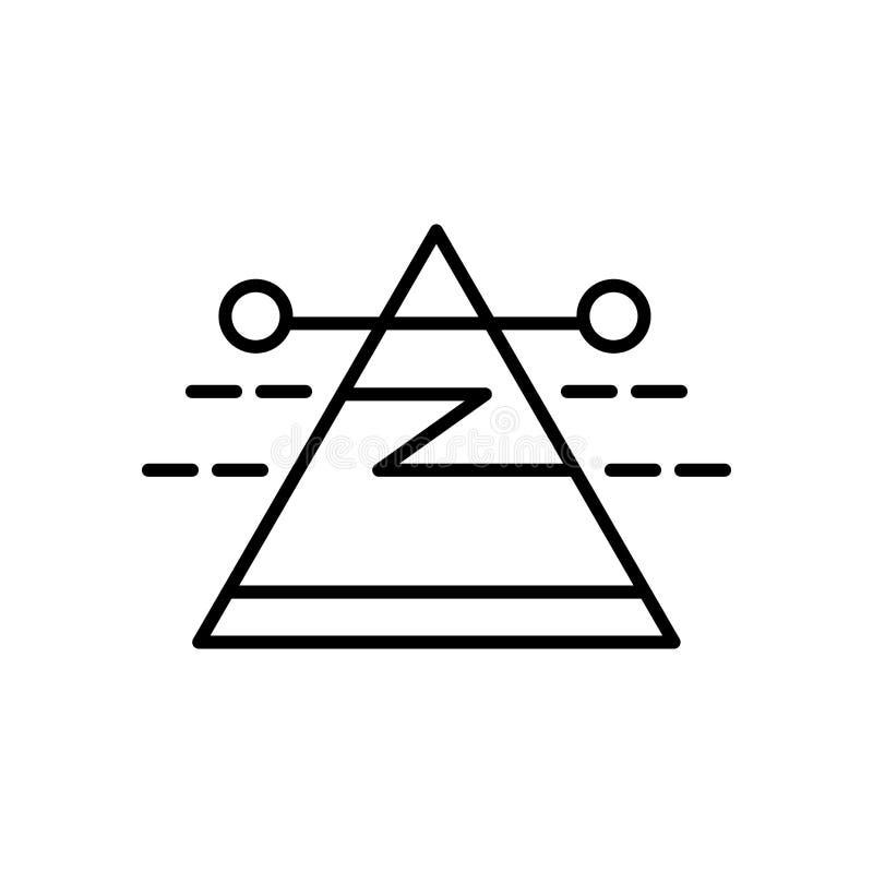 Vetor do ícone da dispersão isolado no fundo, no sinal da dispersão, no sinal e nos símbolos brancos no estilo linear fino do esb ilustração royalty free