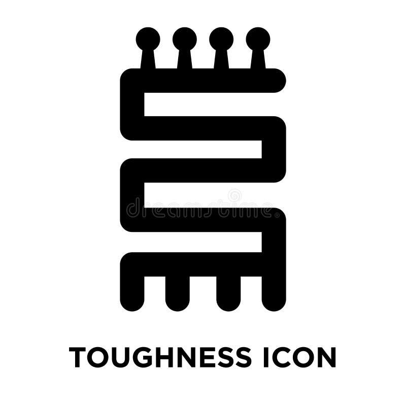 Vetor do ícone da dureza isolado no fundo branco, conceito do logotipo ilustração stock