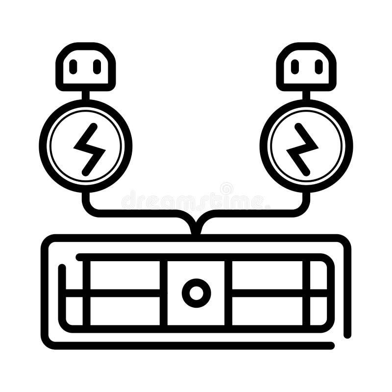 Vetor do ícone da eletricidade ilustração royalty free