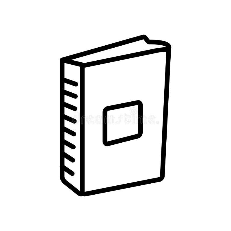 Vetor do ícone da enciclopédia isolado no fundo branco, Encyclope ilustração royalty free