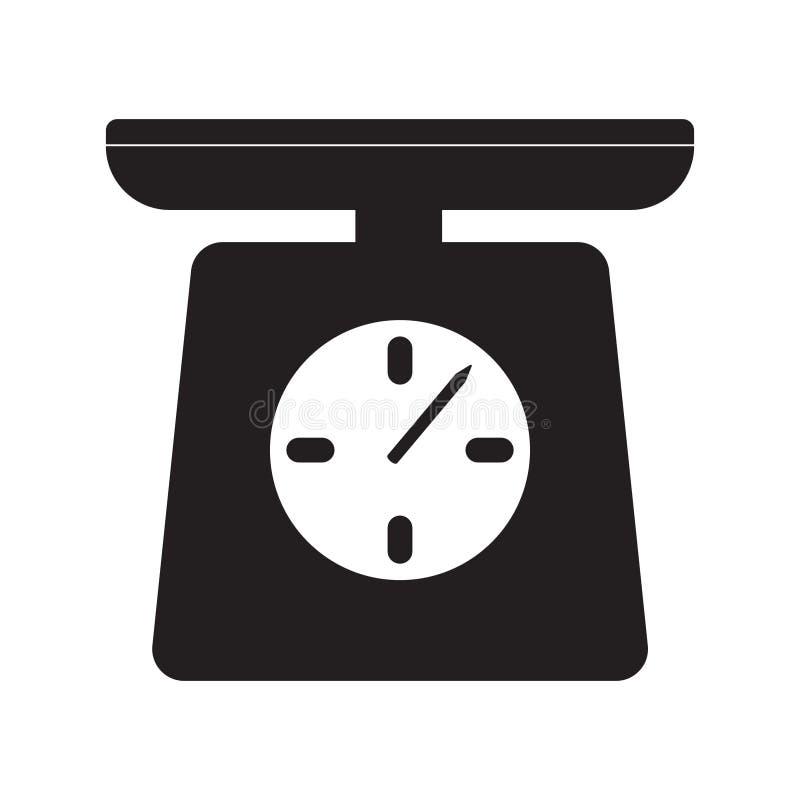 Vetor do ícone da escala, vetor do ícone do peso ilustração do vetor