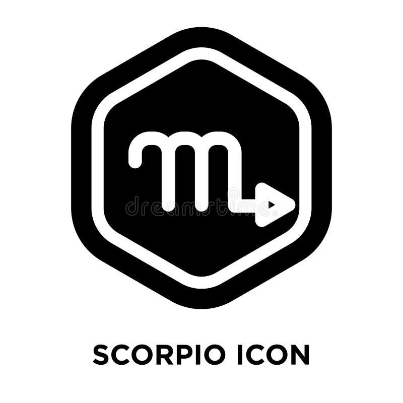 Vetor do ícone da Escorpião isolado no fundo branco, conceito o do logotipo ilustração stock