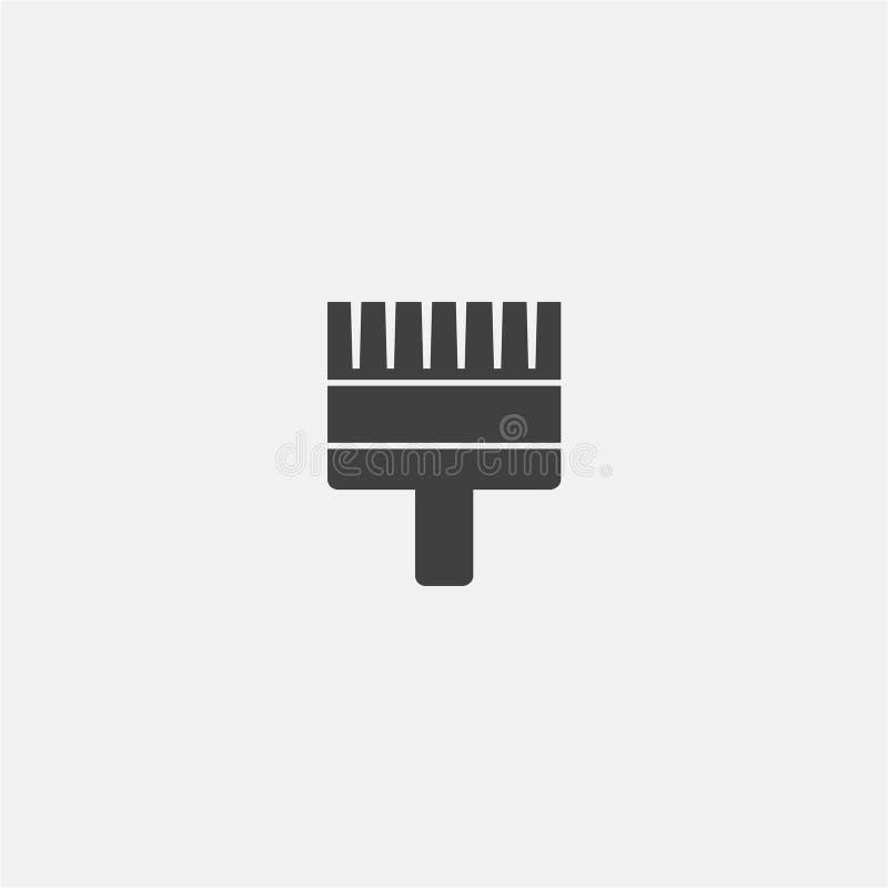 Vetor do ícone da escova de pintura ilustração royalty free
