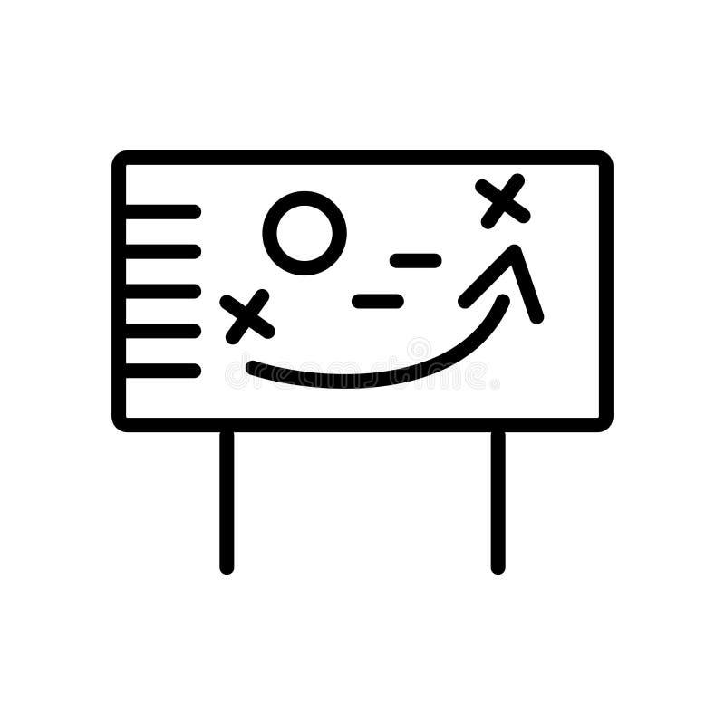 Vetor do ícone da estratégia isolado no fundo branco, sinal da estratégia ilustração do vetor