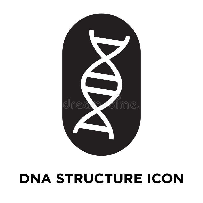 Vetor do ícone da estrutura do ADN isolado no fundo branco, engodo do logotipo ilustração do vetor