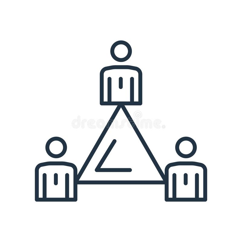 Vetor do ícone da estrutura hierárquica isolado no fundo branco, sinal da estrutura hierárquica ilustração do vetor