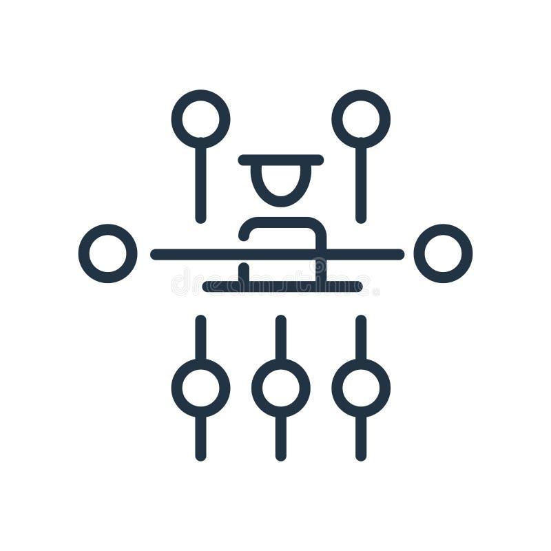 Vetor do ícone da estrutura hierárquica isolado no fundo branco, no sinal da estrutura hierárquica, na linha símbolo ou no elemen ilustração stock