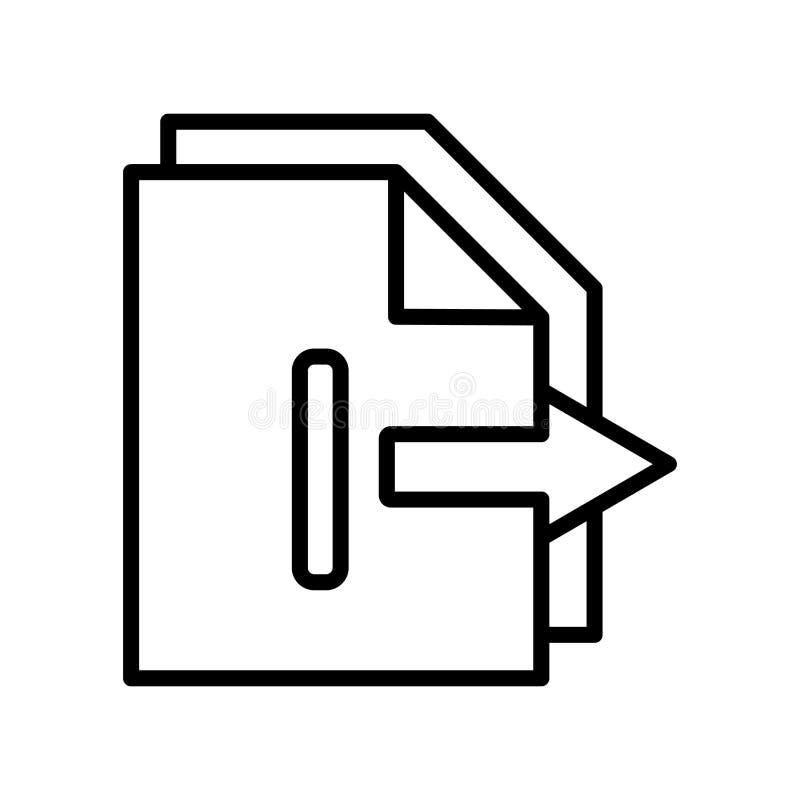 Vetor do ícone da exportação isolado no fundo branco, sinal da exportação, l ilustração do vetor