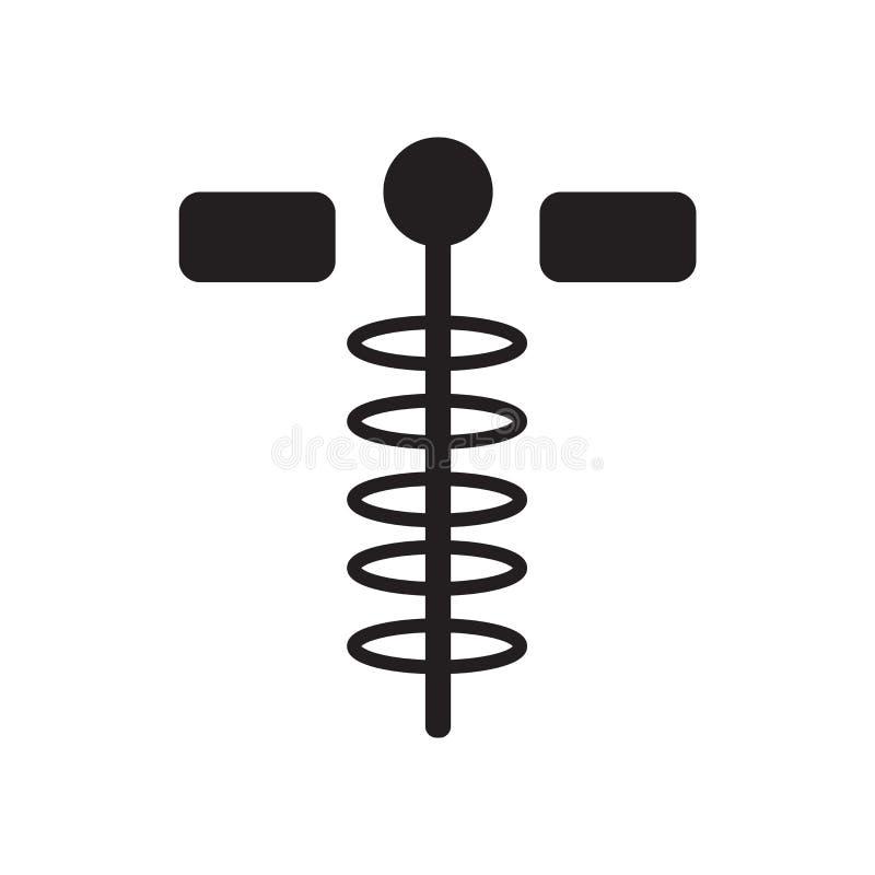 Vetor do ícone da farmácia isolado no fundo branco, sinal da farmácia, símbolos médicos da saúde ilustração royalty free