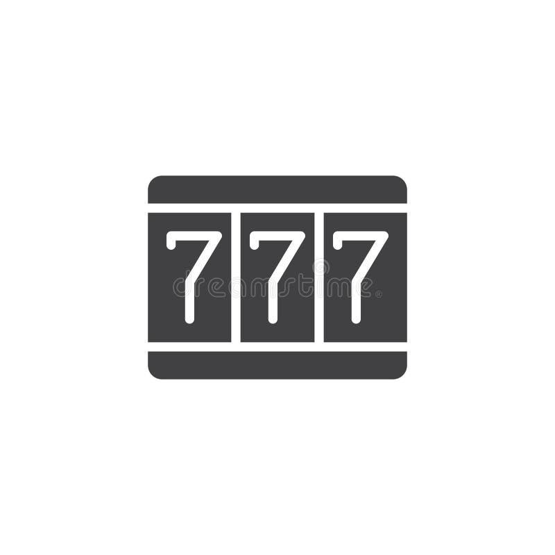 Vetor do ícone da fortuna 777 ilustração royalty free