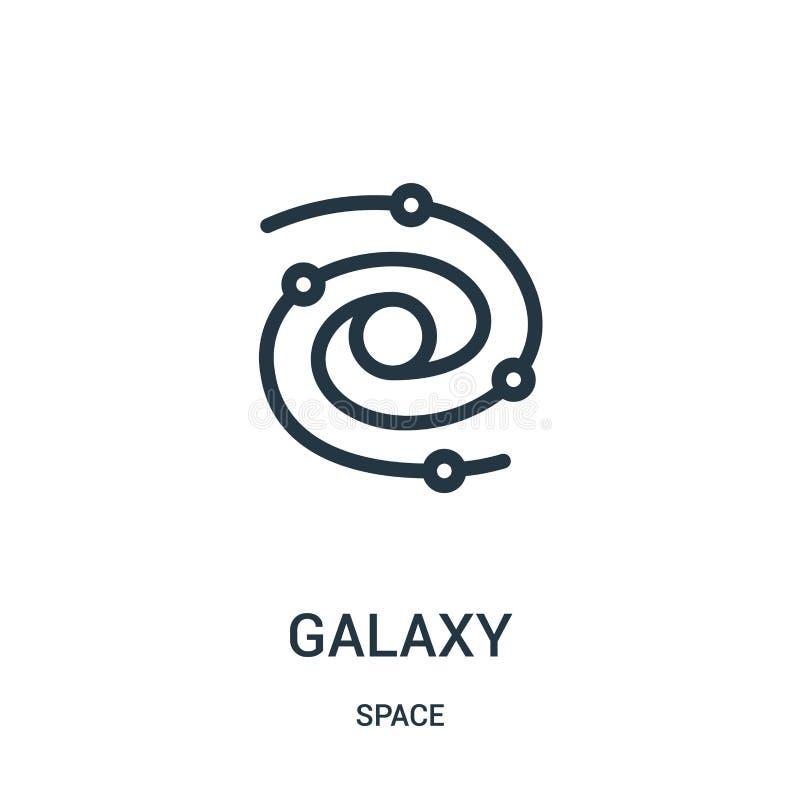 vetor do ícone da galáxia da coleção do espaço Linha fina ilustração do vetor do ícone do esboço da galáxia ilustração royalty free