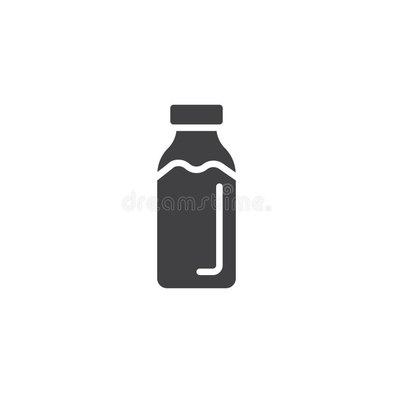 Vetor do ícone da garrafa de leite ilustração stock