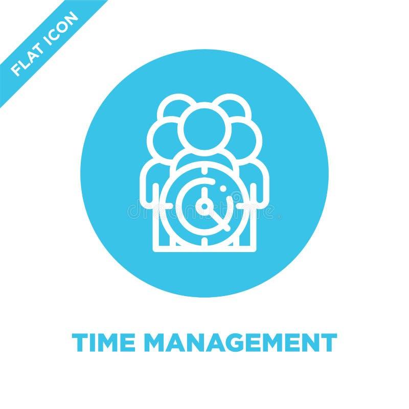 Vetor do ícone da gestão de tempo Linha fina ilustração do vetor do ícone do esboço da gestão de tempo símbolo da gestão de tempo ilustração stock