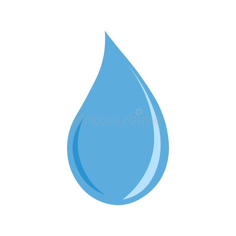 Vetor do ícone da gota da água ilustração do vetor