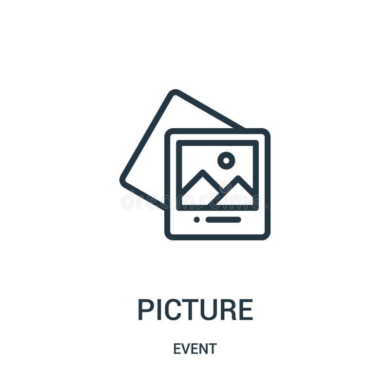 vetor do ícone da imagem da coleção do evento Linha fina ilustra??o do vetor do ?cone do esbo?o da imagem ilustração do vetor