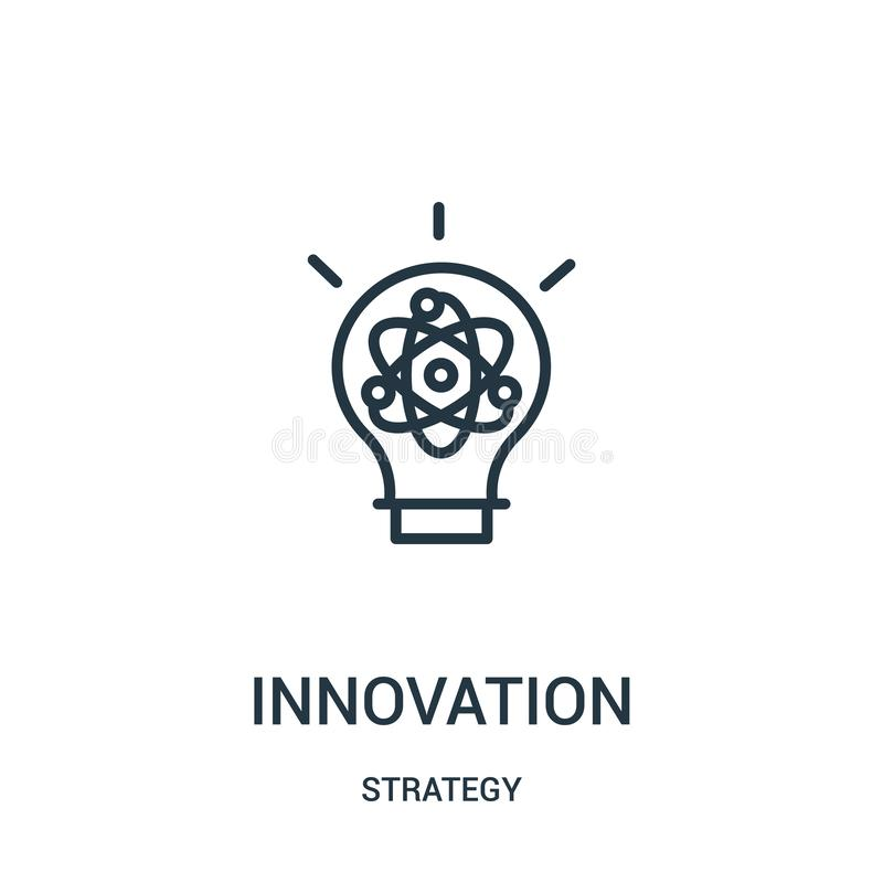 vetor do ícone da inovação da coleção da estratégia Linha fina ilustra??o do vetor do ?cone do esbo?o da inova??o S?mbolo linear ilustração do vetor