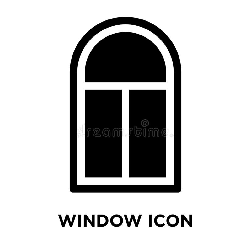 Vetor do ícone da janela isolado no fundo branco, conceito do logotipo de ilustração do vetor