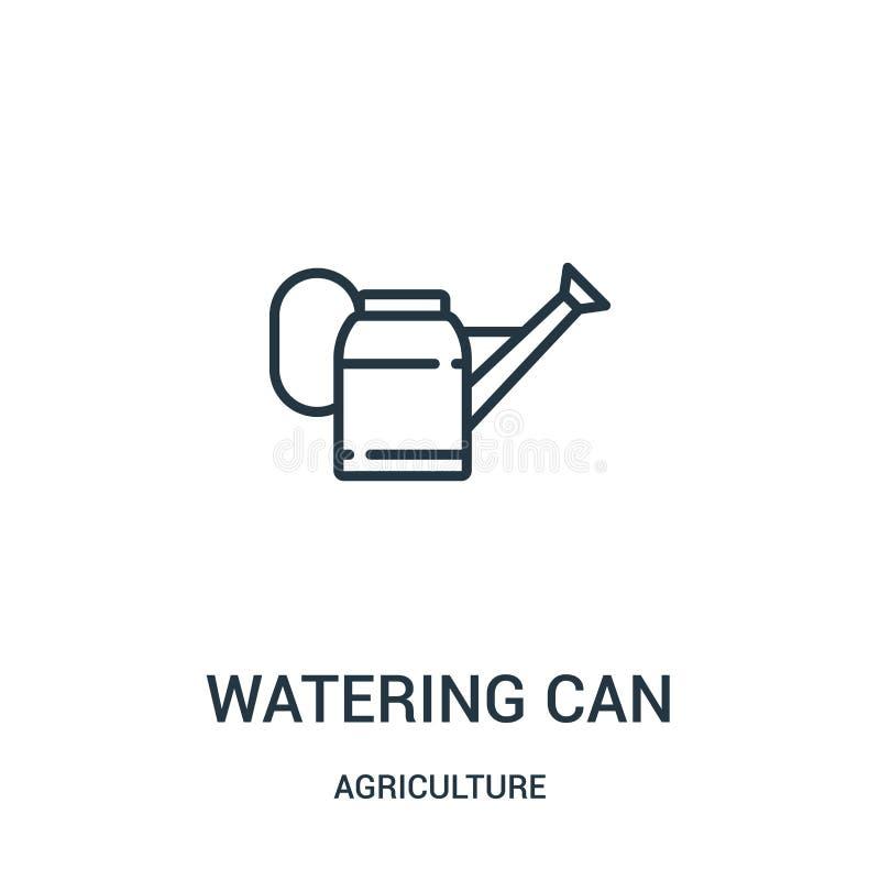 vetor do ícone da lata molhando da coleção da agricultura A linha fina molhar pode esboçar a ilustração do vetor do ícone r ilustração do vetor