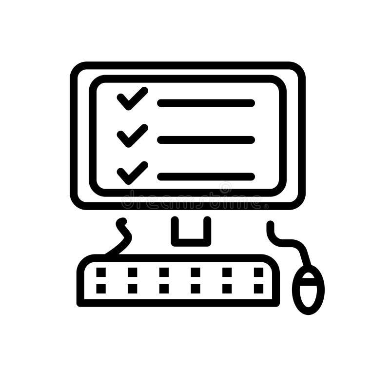 Vetor do ícone da lista de verificação isolado no fundo branco, no sinal da lista de verificação, na linha ou no sinal linear, pr ilustração royalty free