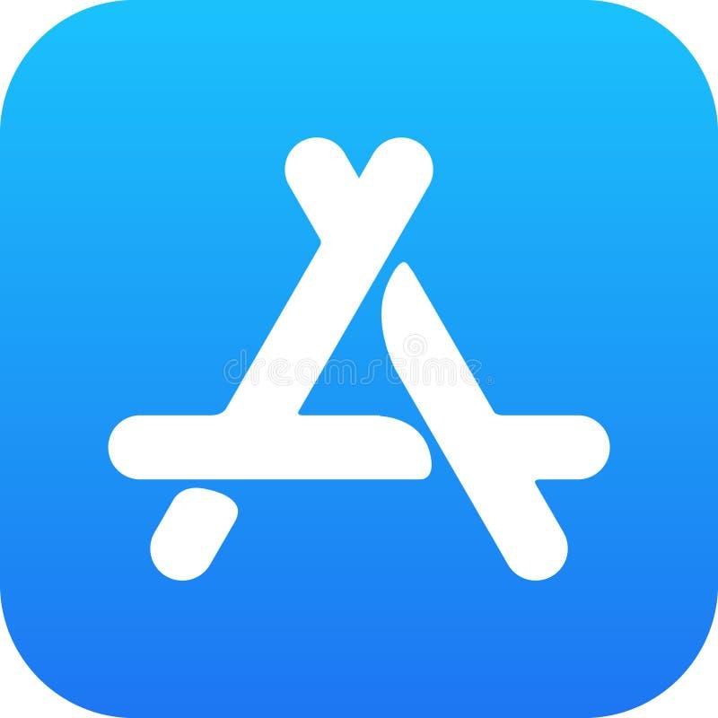 Vetor do ícone da loja do app do ícone do logotipo ilustração do vetor