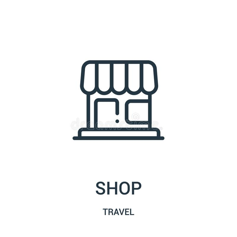 vetor do ícone da loja da coleção do curso Linha fina ilustração do vetor do ícone do esboço da loja Símbolo linear para o uso na ilustração do vetor