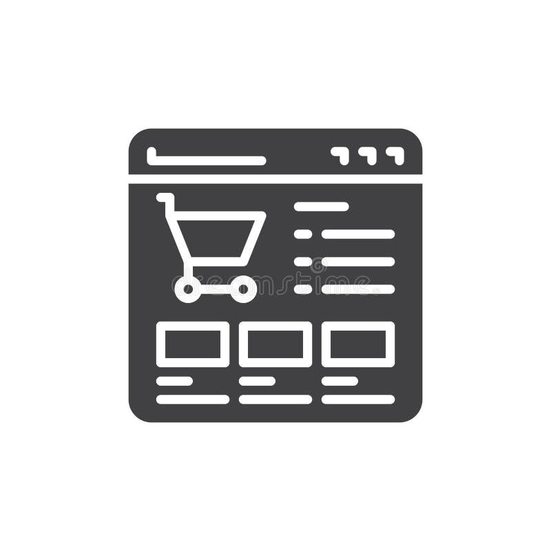 Vetor do ícone da loja do Web site ilustração do vetor