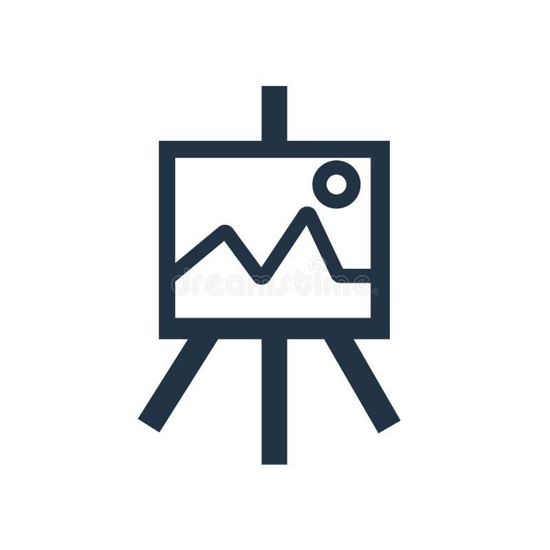 Vetor do ícone da lona isolado no fundo branco, sinal da lona ilustração do vetor