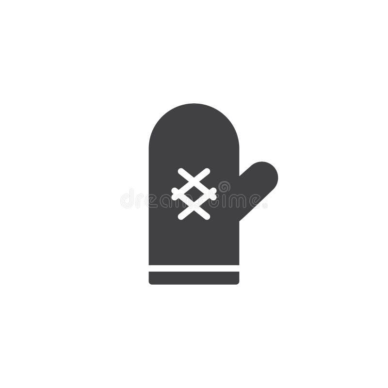 Vetor do ícone da luva do forno ilustração stock