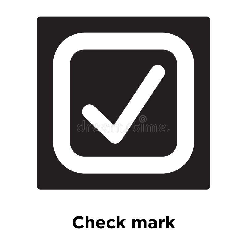 Vetor do ícone da marca de verificação isolado no fundo branco, concep do logotipo ilustração royalty free