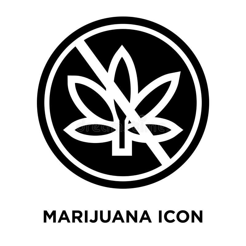 Vetor do ícone da marijuana isolado no fundo branco, conceito do logotipo ilustração royalty free