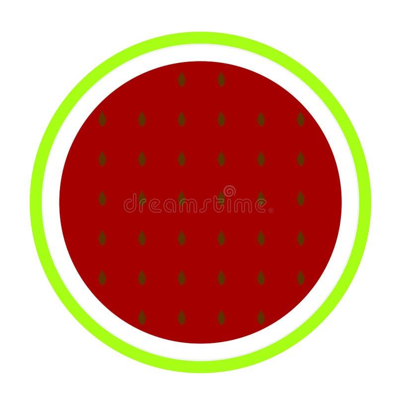 Vetor do ícone da melancia ilustração stock