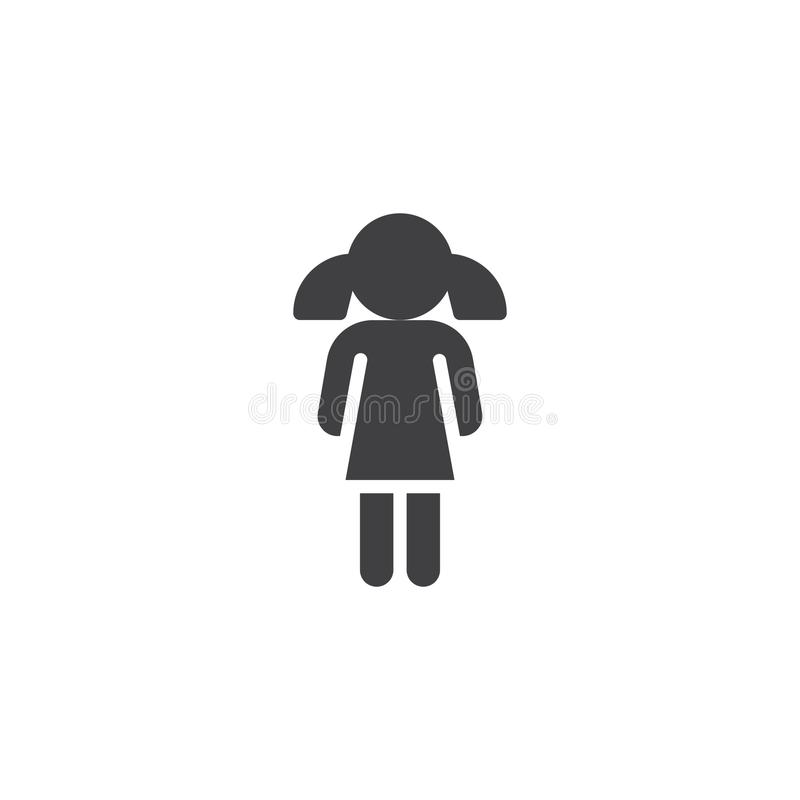 Vetor do ícone da menina ilustração do vetor