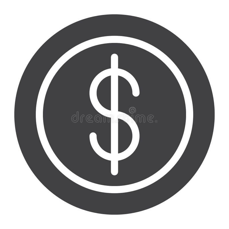 Vetor do ícone da moeda do centavo ilustração do vetor