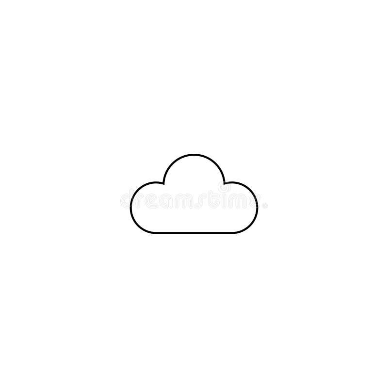 Vetor do ícone da nuvem Linha símbolo do céu Projeto liso na moda do sinal do ui do esboço do tempo Pictograma gráfico linear fin ilustração royalty free