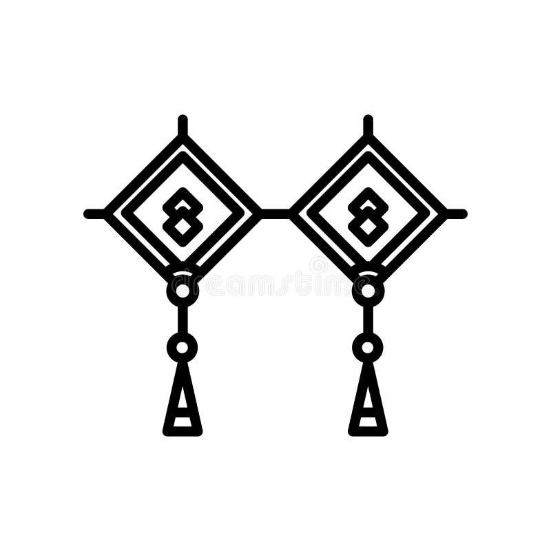 Vetor do ícone da ornamentação isolado no fundo branco, sinal da ornamentação ilustração do vetor