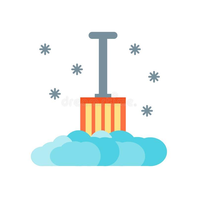 Vetor do ícone da pá isolado no fundo branco, sinal da pá, símbolos frios nevados do inverno ilustração do vetor
