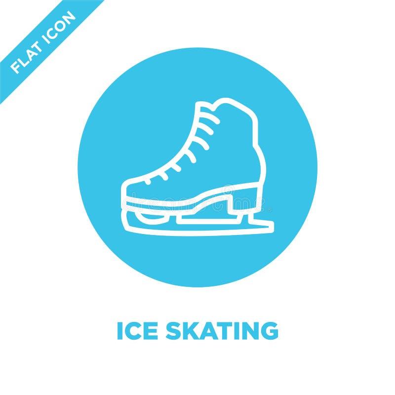 vetor do ícone da patinagem no gelo da coleção das estações Linha fina ilustração do vetor do ícone do esboço da patinagem no gel ilustração do vetor