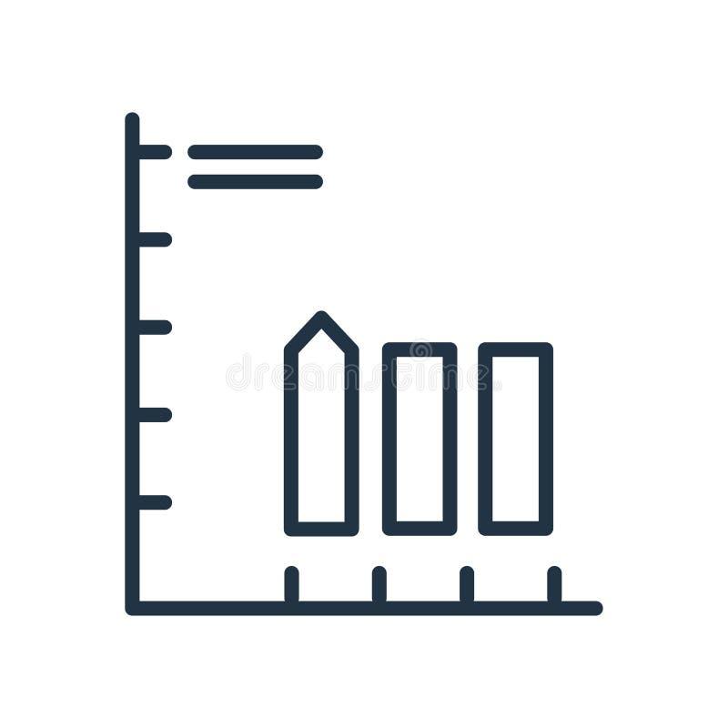 Vetor do ícone da perda isolado no fundo branco, sinal da perda ilustração royalty free