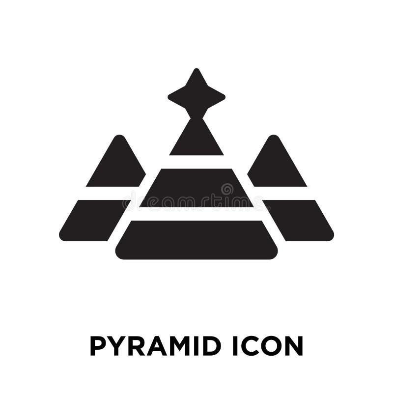 Vetor do ícone da pirâmide isolado no fundo branco, conceito o do logotipo ilustração stock