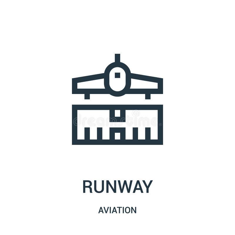 vetor do ícone da pista de decolagem da coleção da aviação Linha fina ilustração do vetor do ícone do esboço da pista de decolage ilustração do vetor
