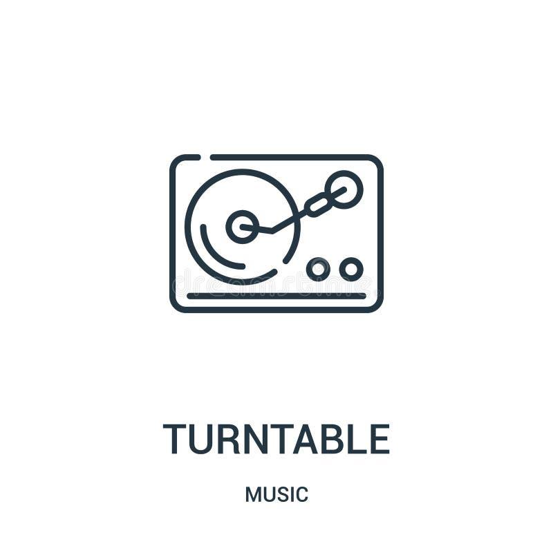 vetor do ícone da plataforma giratória da coleção da música Linha fina ilustração do vetor do ícone do esboço da plataforma girat ilustração do vetor